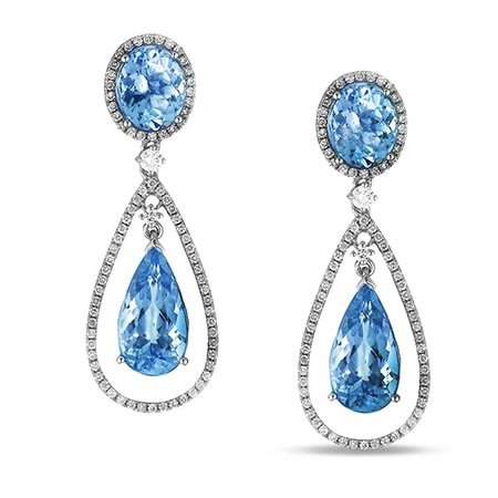 blue topaz earrings $4,800 lugaro jewellers