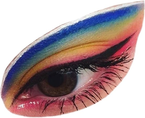 rainbow eyeshadow eye