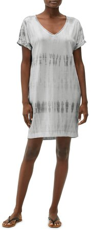 Cara Tie Dye V-Neck Short Sleeve Cotton & Modal T-Shirt Minidress