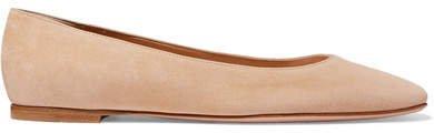 Suede Ballet Flats - Neutral