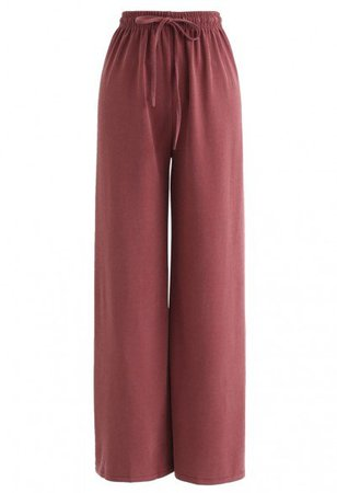 Drawstring Wide-Leg Pants in Teal - NEW ARRIVALS - Retro, Indie and Unique Fashion