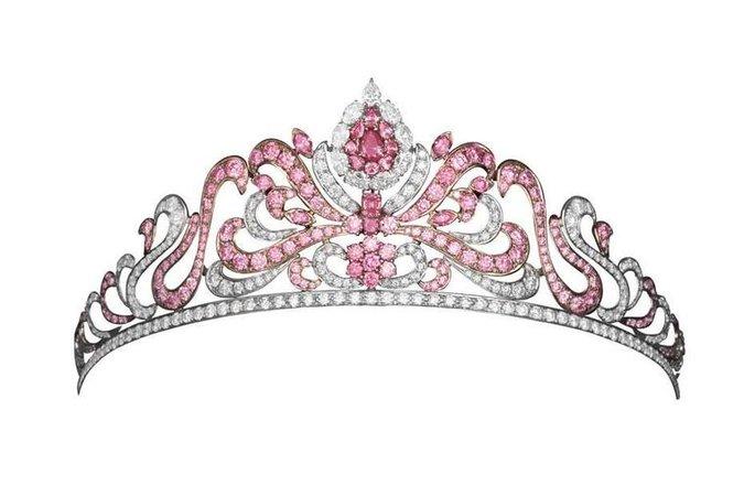 pink tourmaline tiara from royal vault