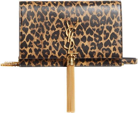 Kate Leopard Heart Print Leather Crossbody Bag