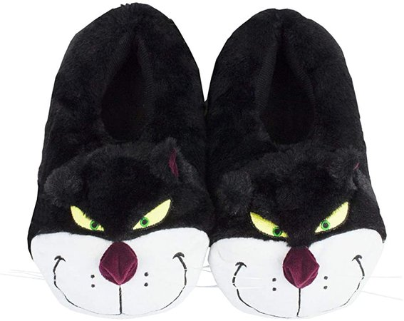 Disney Cinderella Lucifer The Cat Plush Women's Novelty 3D Slippers: Amazon.co.uk: Shoes & Bags