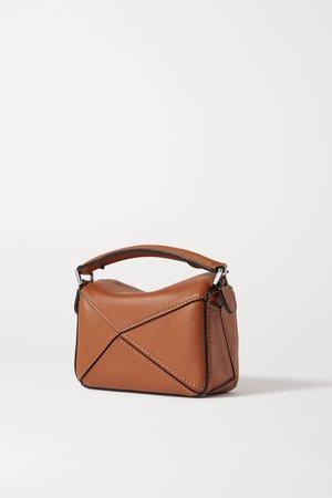 Tan Puzzle nano leather shoulder bag   Loewe   NET-A-PORTER
