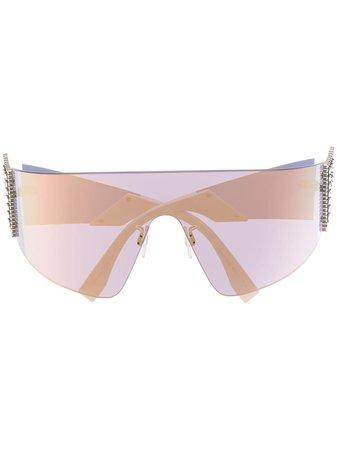 Fendi Eyewear FFreedom mask-shaped sunglasses - Farfetch