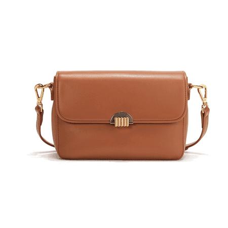 JESSICABUURMAN – KIJOE Metal Lock Leather Cross Body Bag