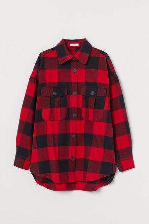 Cotton Flannel Shirt - Red