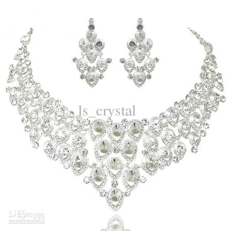 Hot Sale Engagement Women Jewelry Set Noble Shiny Crown Tiara Necklace Earrings Wedding Bridal Jewelry Custome Decoration Accessories Bridal Earrings Pearl Bridal Jewelry For Less From Ls_crystal, $30.16| Dhgate.Com