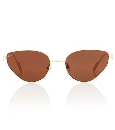 Première De Cartier Cat-Eye Sunglasses - Cartier Eyewear Collection   mytheresa.com