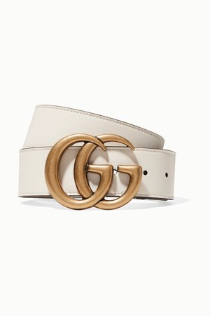Ivory Leather belt | Gucci | NET-A-PORTER