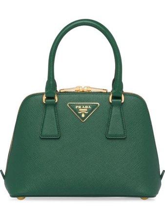 Green Prada Promenade Saffiano Leather Bag | Farfetch.com