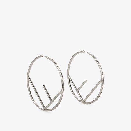 Silver-coloured earrings - F IS FENDI EARRINGS   Fendi