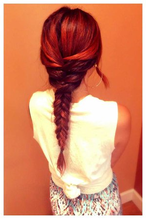 fishtail braid red hair - Google Search