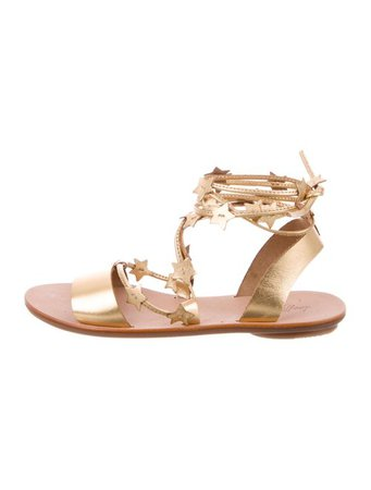 Loeffler Randall Leather Wrap-Around Sandals - Shoes - WLF36297 | The RealReal