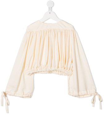 Shop UNLABEL gathered bell-sleeved blouse with Express Delivery - Farfetch