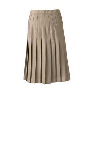 School Uniform Girls Solid Pleated Skirt Below the Knee | Lands' End