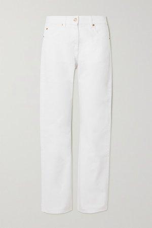 High-rise Straight-leg Jeans - White