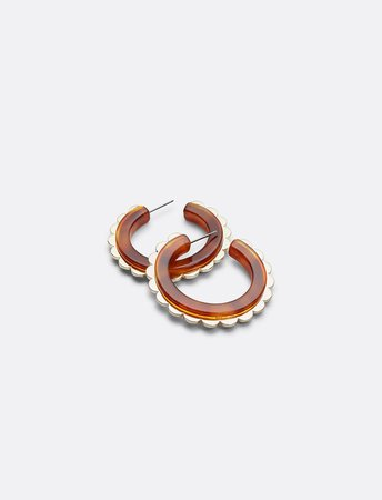 Small Scalloped Hoop Earrings – Draper James