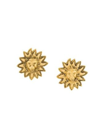 Chanel Pre-Owned Sun Earrings 126843 Metallic | Farfetch