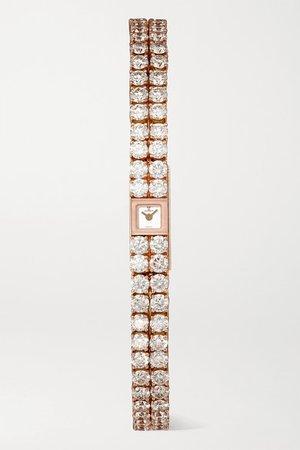 Jaeger-LeCoultre | 101 Reine 6.8mm 18-karat rose gold and diamond watch | NET-A-PORTER.COM