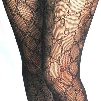 Female letter pantyhose winter fishnet stockings leggings-Taobao
