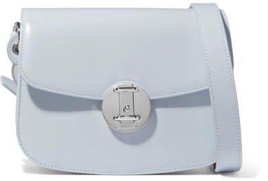 Leather Shoulder Bag - Blue