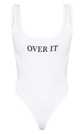 Shape White Over It Scoop Neck Bodysuit | PrettyLittleThing USA