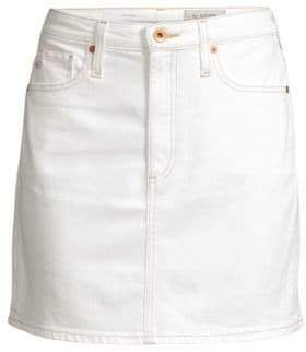 Women's Denim Mini Skirt - White - Size 24 (0)