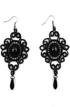 Black Lace Earrings - Pinterest