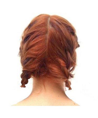 red blue hair