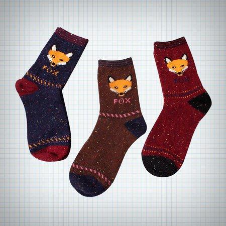 Fox Face Ankle Socks on Storenvy