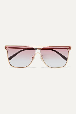 Stella McCartney | D-frame gold-tone sunglasses | NET-A-PORTER.COM