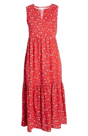 beachlunchlounge Ireana Tiered Ruffle Midi Dress | Nordstrom