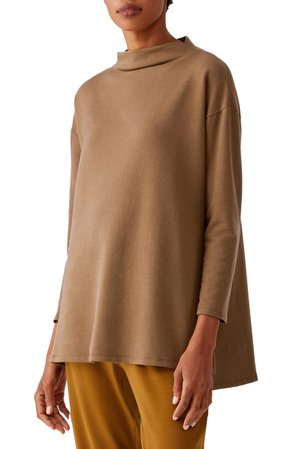 Eileen Fisher Funnel Neck Tunic Sweater | Nordstrom