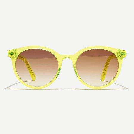 J.Crew: Beachy Round Sunglasses For Women yellow