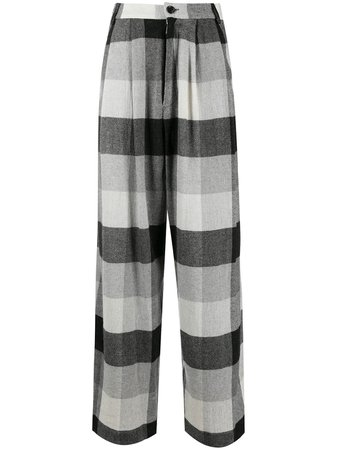 Natasha Zinko Checked wide-leg Trousers - Farfetch