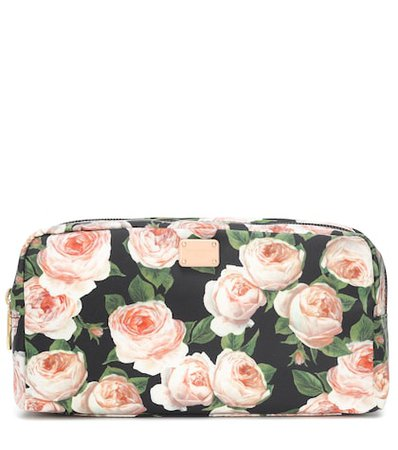 Floral-printed cosmetics case