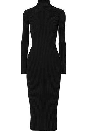 Dion Lee | Cutout ribbed-knit midi dress | NET-A-PORTER.COM