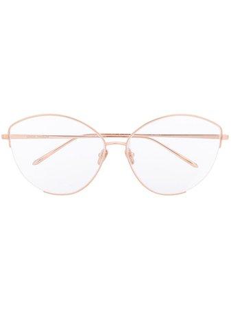 Linda Farrow Round Frame Optical Glasses Continuity | Farfetch.Com