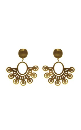 Cauca 24K Gold-Plated Earrings by CANO   Moda Operandi