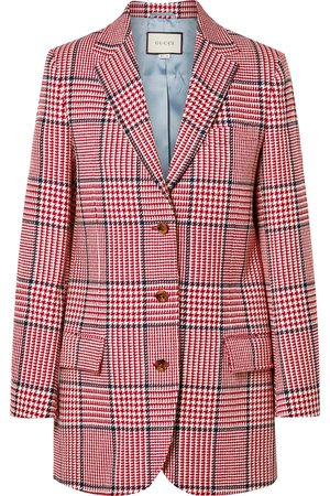 Gucci | Prince of Wales checked wool-blend blazer | NET-A-PORTER.COM