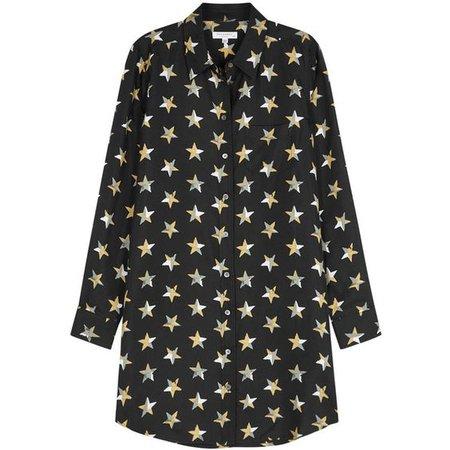 Equipment Brett Star-print Silk Twill Shirt Dress