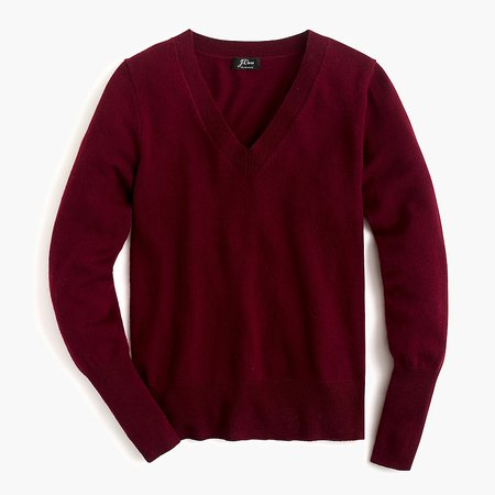 J.Crew Cashmere V-neck Fitted Sweater