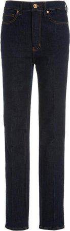 Tory Burch Straight Leg High-Rise Jean