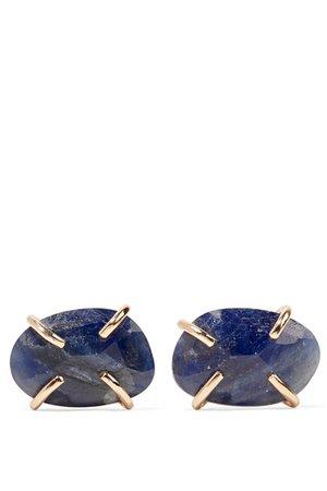 Melissa Joy Manning | 14-karat gold sapphire earrings | NET-A-PORTER.COM