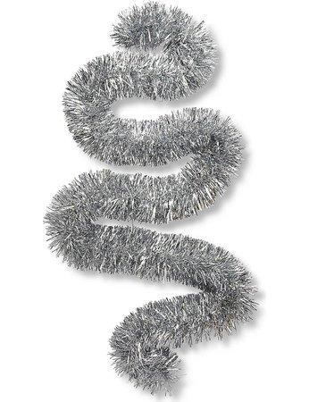 CHRISTMAS - Silver tinsel 2m | Selfridges.com