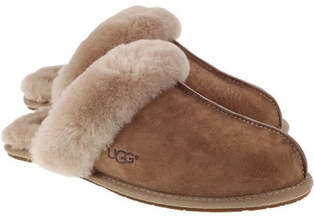 UGGS Brown Shearling Slippers