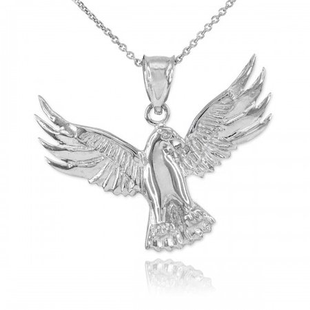 Falcon Pendant Necklace in Sterling Silver | Gold Boutique