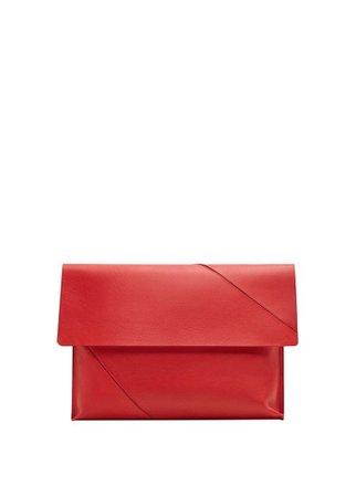 MANGO Leather envelope bag